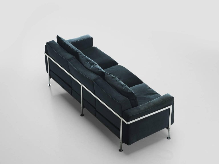 Pair of Robert Haussmann for De Sede Velvet Sofas, Switzerland 2
