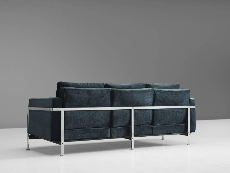 Pair of Robert Haussmann for De Sede Velvet Sofas, Switzerland 5