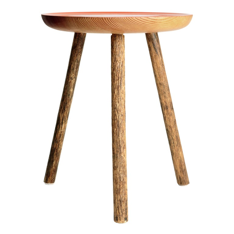 Staked Wood Side Table, ERIK GUSTAFSON