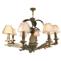 Eight-Light Antique Pineapple Chandelier