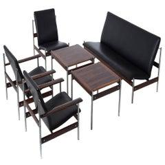 Danish Modern Fjord Fiesta 1001 Modernist Seating and Table Ensemble