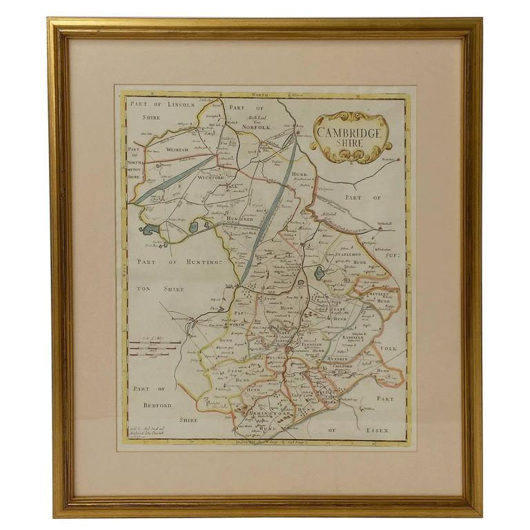 18th Century Map of Cambridgeshire