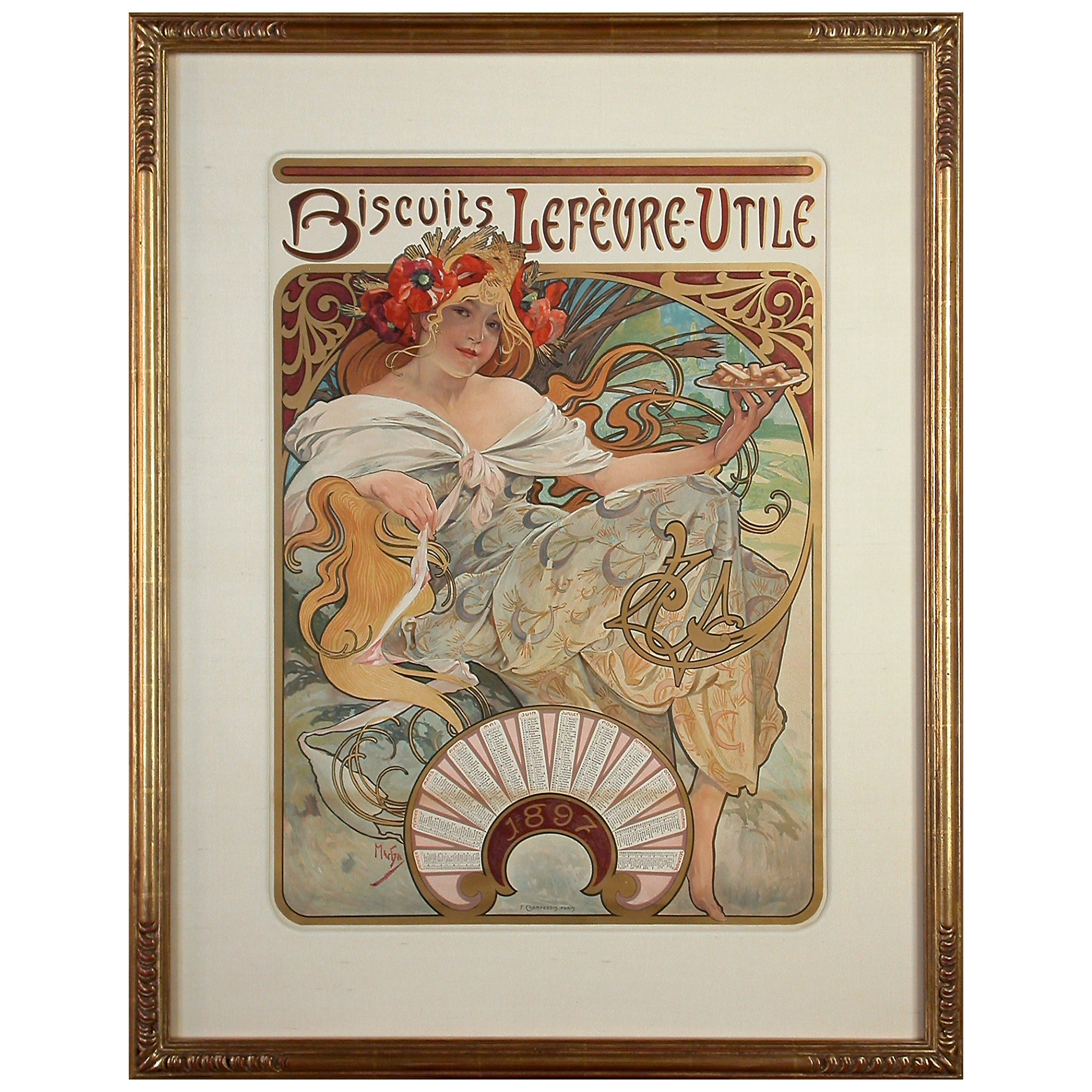 """1897 Job Papers Poster by Alphonse Mucha Laminated Poster 24.5/"""" x 36.5/"""""""