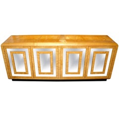 Stunning Bird's-Eye Maple and Mirrored Dresser by Romweber