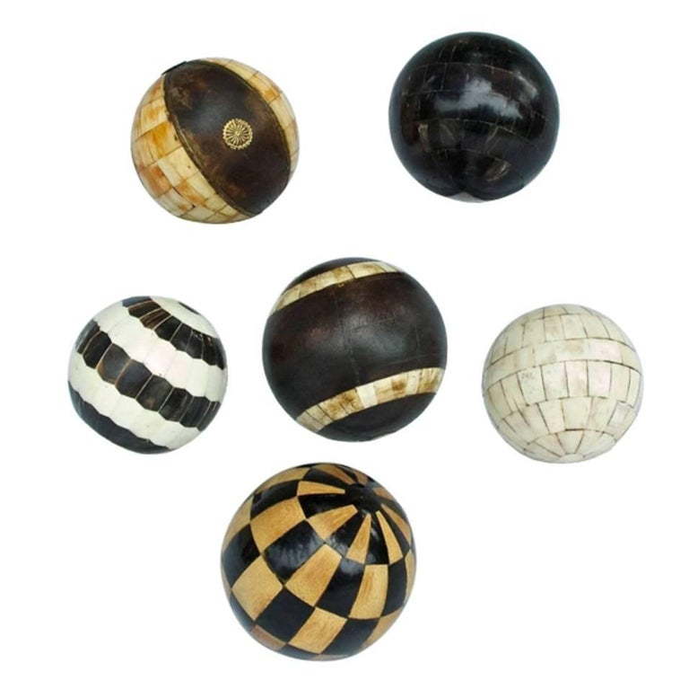Collection of Decorative Tessellated Spheres
