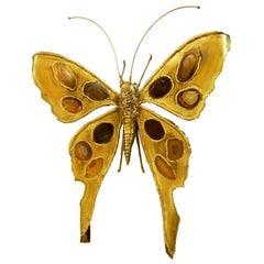 Bronze Butterfly Sculpture by Jacques Duval-Brasseur