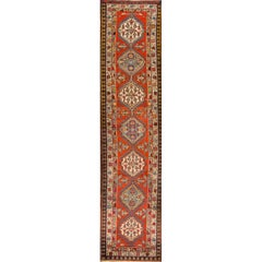 Antique Multicolored Serab Runner Rug