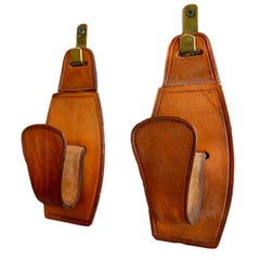 Adnet Style Saddle Leather Hooks