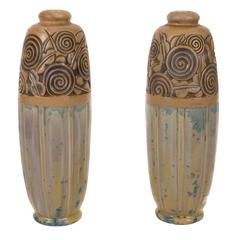 Pair of Large French Art Deco Period Vases by Mougin, circa 1920