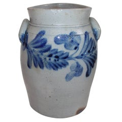Pennsylvania Decorated Stoneware with Handles