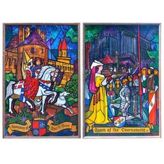 Two Monumental Painted Panels by Lumen Martin Winter (1908-1982)