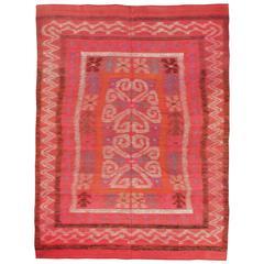 Vintage Finnish Kilim Flat-Weave Rug