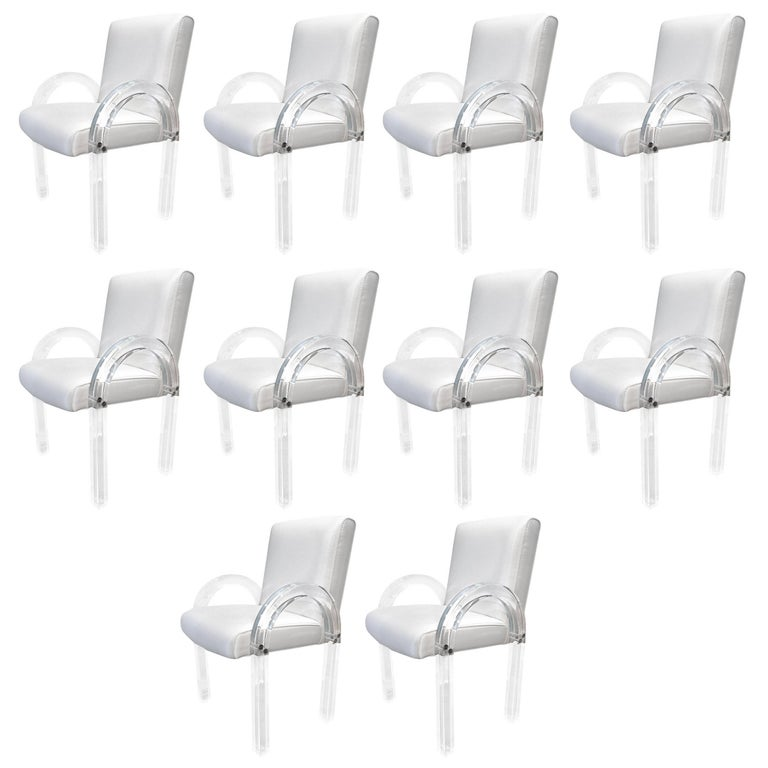 Set of ten Charles Hollis Jones Waterfall Chairs from the Dorothy McGuire Estate