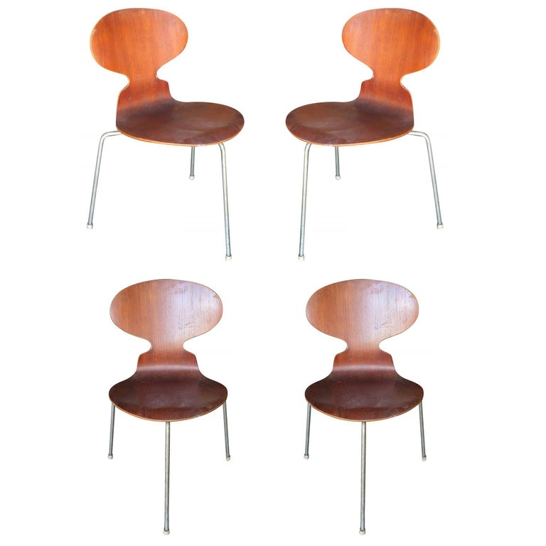"Arne Jacobsen ""Ant"" Side Chairs, Set of Four **Saturday Sale**"
