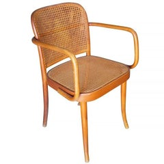 Josef Hoffmann No 811 Bentwood Cane Chair by Thonet, Set of Four