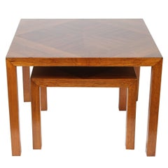 Mid-Century Walnut Nesting Tables from Lane