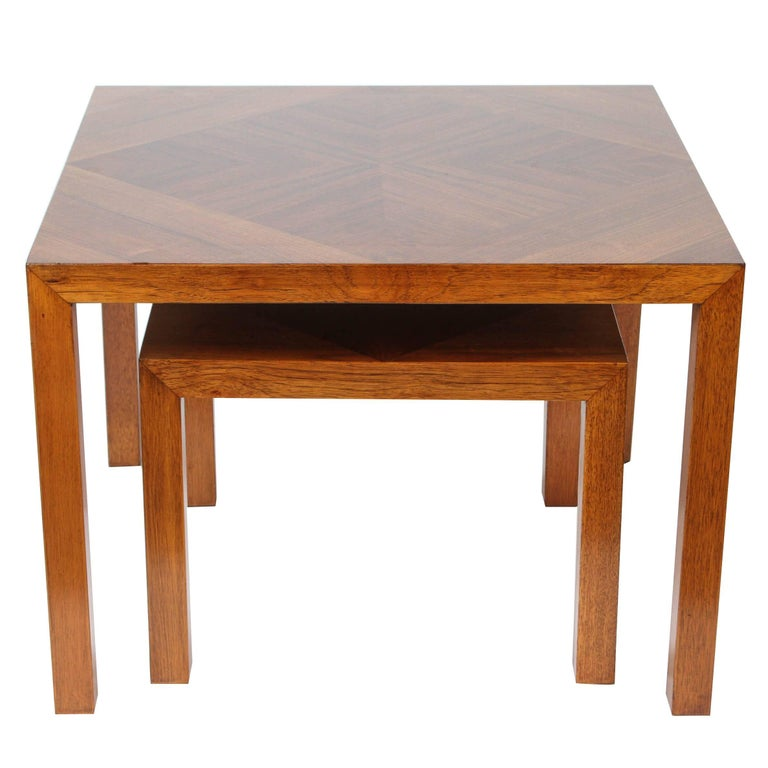 Mid-Century Walnut Nesting Tables from Lane For Sale