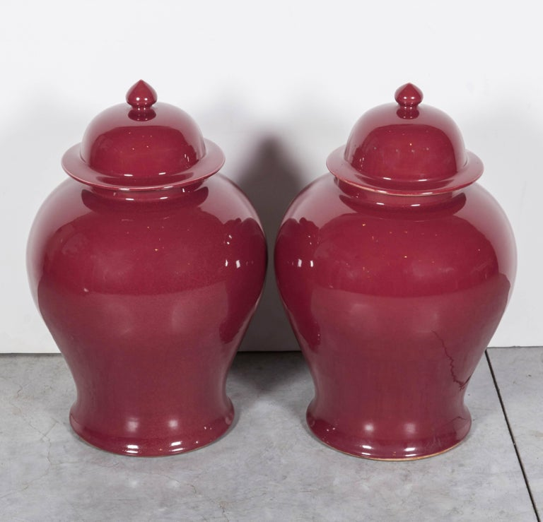 Tall Contemporary Chinese Baluster Jars 2