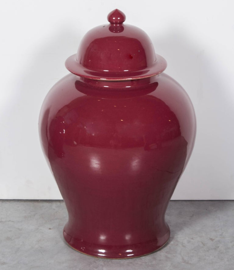 Tall Contemporary Chinese Baluster Jars For Sale 2