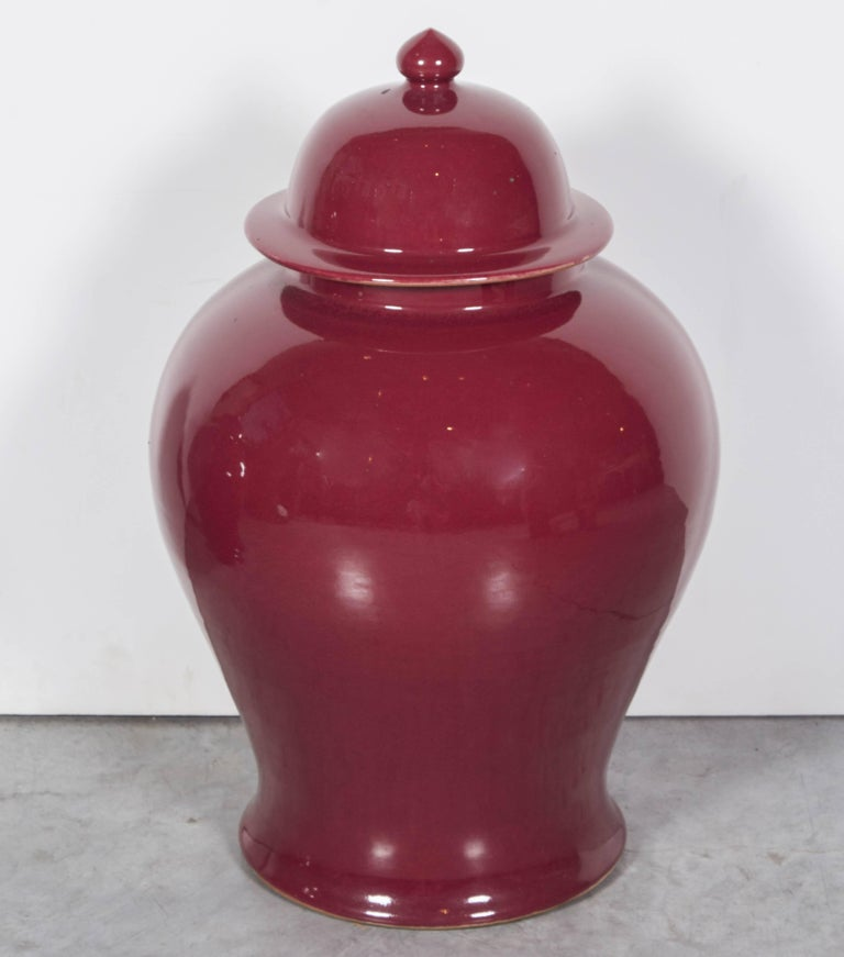 Tall Contemporary Chinese Baluster Jars For Sale 3