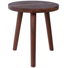 Cherry, Handmade Stool or Side Table with Turned Legs