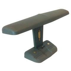 Green Pebbled Metal Industrial Office Desk Lamp