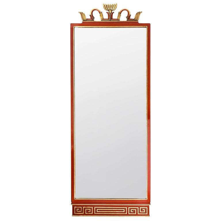 "Rare Axel Einar Hjorth Swedish Art Deco ""Abo"" Mirror from Nordiska Kompaniet"