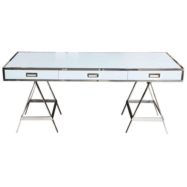 Albrizzi Trestle Desk New Larger Size For Sale
