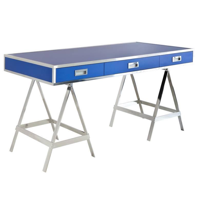 Aluminum Albrizzi Trestle Desk New Larger Size For Sale