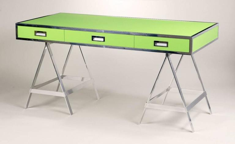 Albrizzi Trestle Desk New Larger Size For Sale 3