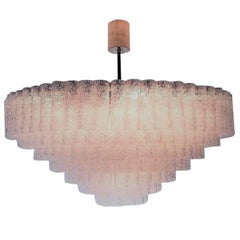 Huge Mid-Century 40-Light Glass Chandelier by Doria, circa 1960s