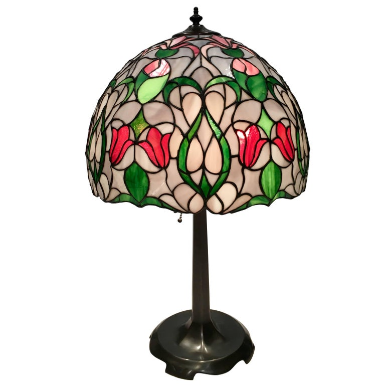 Artisan Handmade Tiffany Style Lamp For Sale