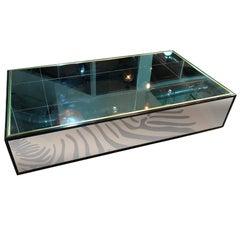 Mirrored Coffee Table, Lg Century Similar to One in Yves Saint Laurent Paris Apt