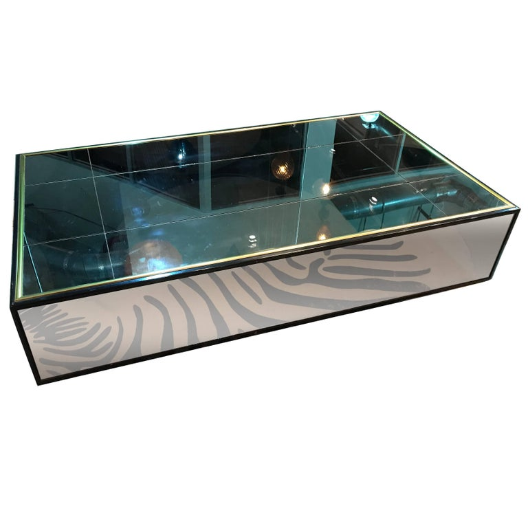 Mirrored Coffee Table, Lg Century Similar to One in Yves Saint Laurent Paris Apt For Sale