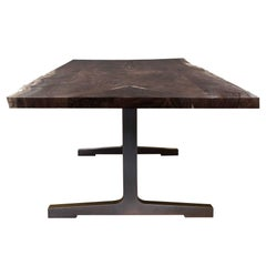 Soho Slab Table with Live Edge and Blackened Bronze by Studio Roeper