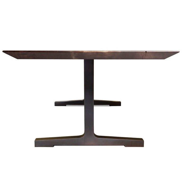 Soho Dining Table with Blackened Bronze Legs by Studio  : soho2corgmaster from www.1stdibs.com size 768 x 768 jpeg 18kB