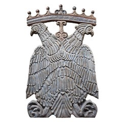 Carved Armorial Eagle Panel, North Italian, 16th Century