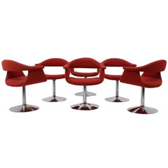 """Six Rare """"Captain's"""" Chairs by Eero Aarnio for Asko Lahti, Finland, 1966"""