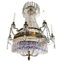 Swedish Empire Crystal Chandelier