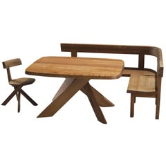 Pierre Chapo Dining Set in Solid Elm