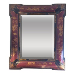 Elegant Chinoiserie Style Hand-Painted Mirror