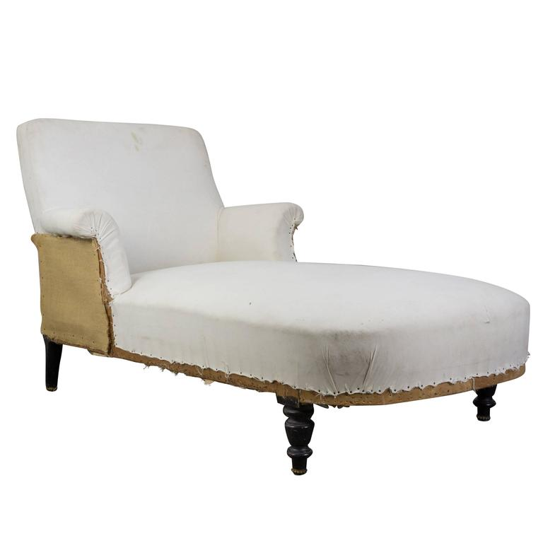 French 19th century chaise lounge for sale at 1stdibs for Chaise longue 2 personnes