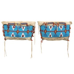 Antique Native American Beaded Possible Bags, Sioux (Plains), 19th Century