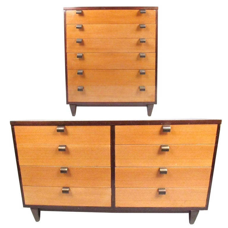 Pair of Mid-Century Modern Bedroom Dressers in the Style of George Nelson