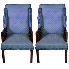 Pair of English Mohagany Armchairs
