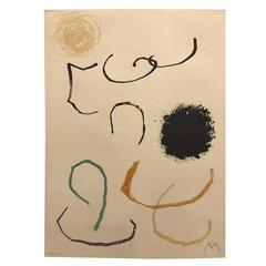 "Miro ""Obra Inedita Recent"" Lithograph Signed Numbered"
