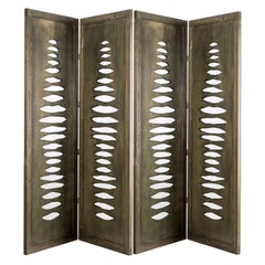 Navajo Sculptural Screen Divider in Solid Wood