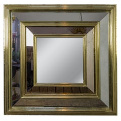 Large French Brass Framed Mirror