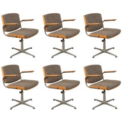 Six Danish Midcentury Swivel Chairs