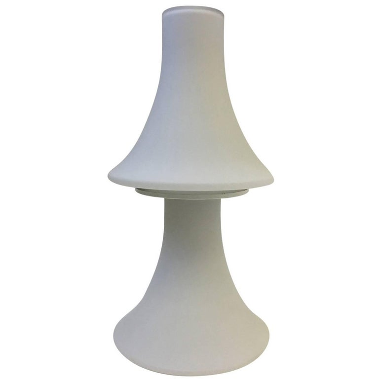 White Frosted Glass Table Lamp by Laurel Lamps